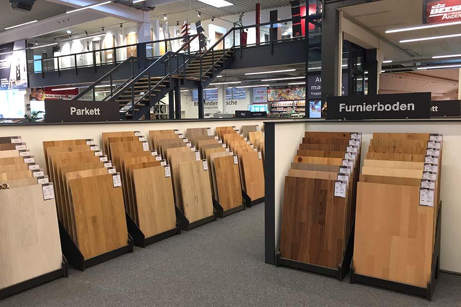 Ausstellung Böden Parkett Laminat Vinyl Kork HolzLand Beese Unna Dortmund