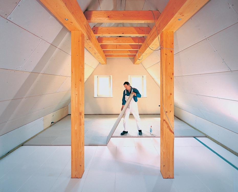bauen tockenbau platten gips holzstaenderwerk metallstaenderwerk holzland beese - Bauen