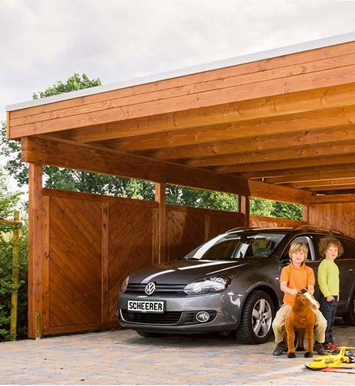 Carports Garagen Holz Carport Variant Douglasie geölt Scheerer HolzLand Beese Unna Dortmund