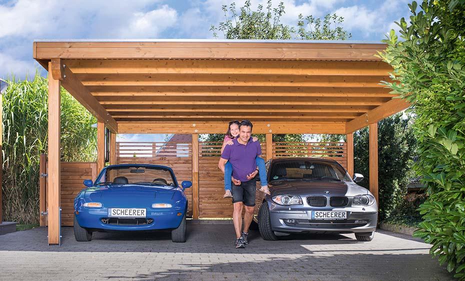 Carports Garagen Holz Carport variant Leimholz lasiert Scheerer HolzLand Beese Unna Dortmund