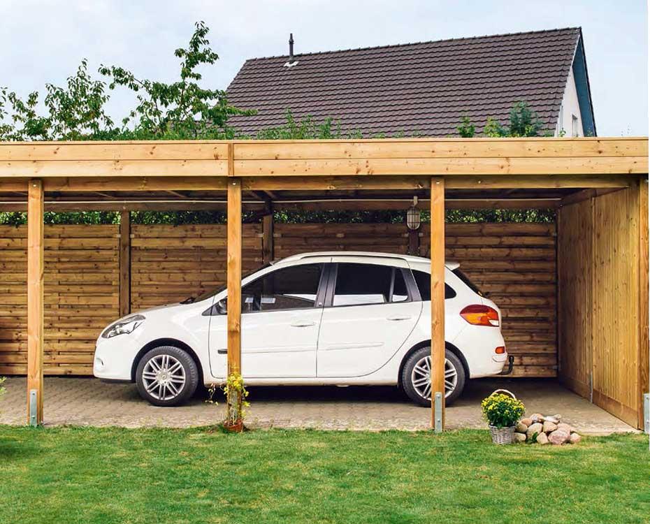 carports garagen holzcarports scheerer holzland beese - Carports & Garagen