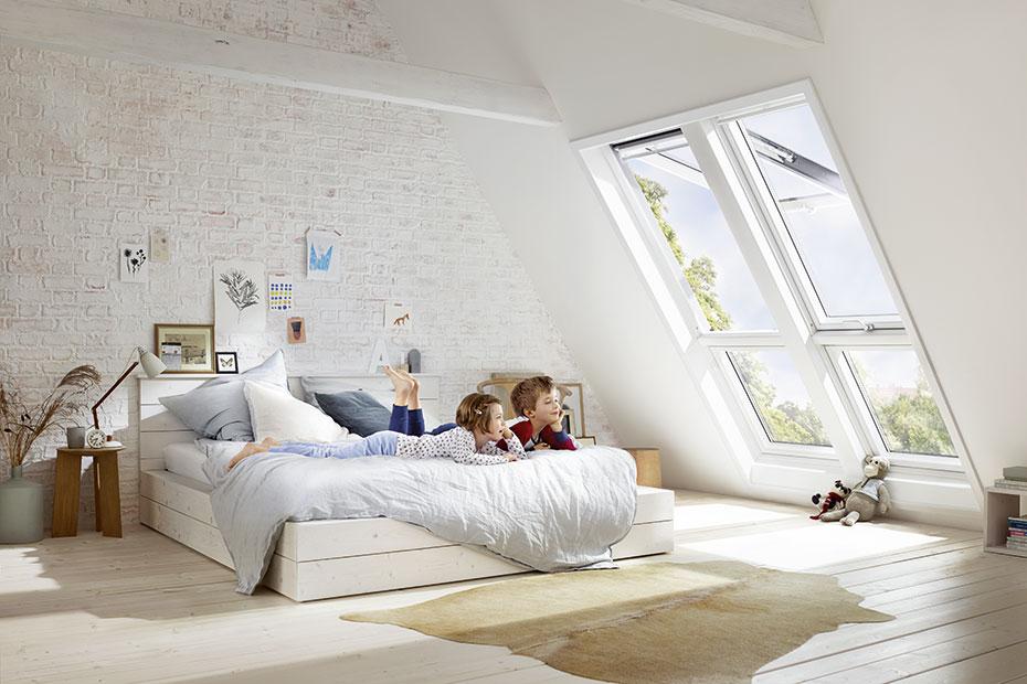 dachfenster velux zusatzelement kinderzimmer holzland beese - Dachfenster