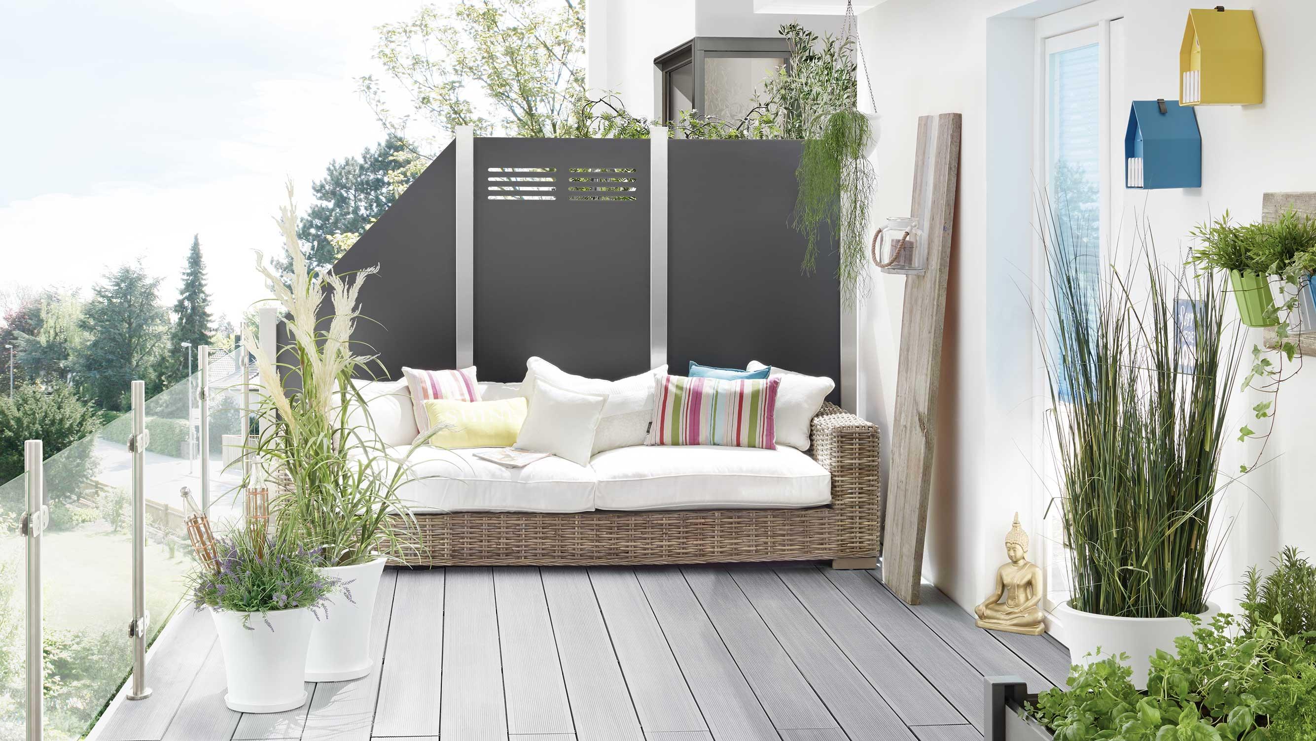 Garten Terrassendiele grau Bruegmann HolzLand Beese Unna Dortmund