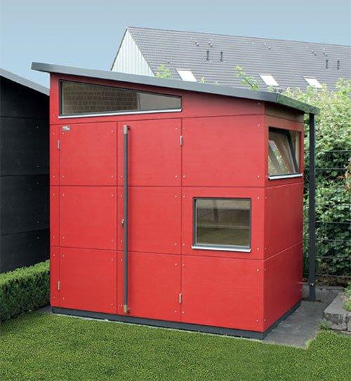 gartenhaus individuell architektenhaus rot gartana holzland beese - Gartenhäuser