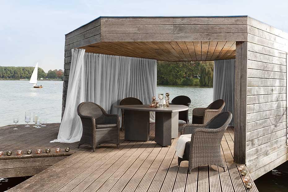Gartenmöbel geflecht Sitzgruppe Pergola HolzLand Beese Unna Dortmund