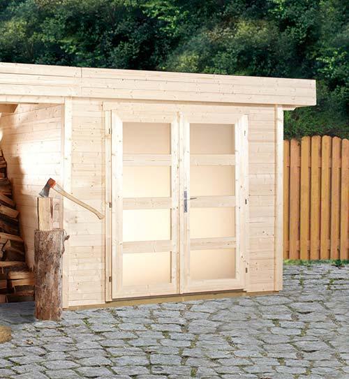 Gerätehaus Holz Überdachung HolzLand Beese Unna Dortmund