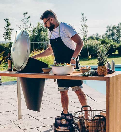 grill klassisch moderne grills hoefats holzkohle cone holzland beese - Grills