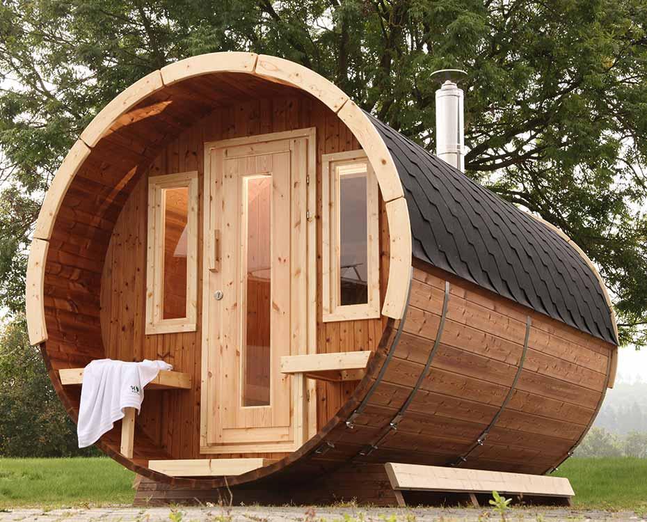 haeuser garten saunafass wolff finnhaus holzland beese - Häuser im Garten