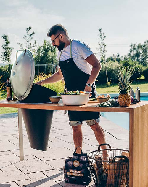 hohlzkohlegrill cone grillen hoefats holzland beese - Lagerfeuer-Feeling mit Grill und Feuerkorb