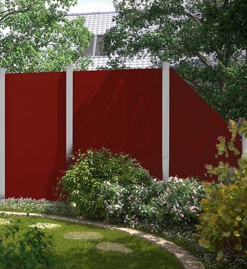 Sichtschutzzaun Board Rot Bruegmann HolzLand Beese Unna Dortmund