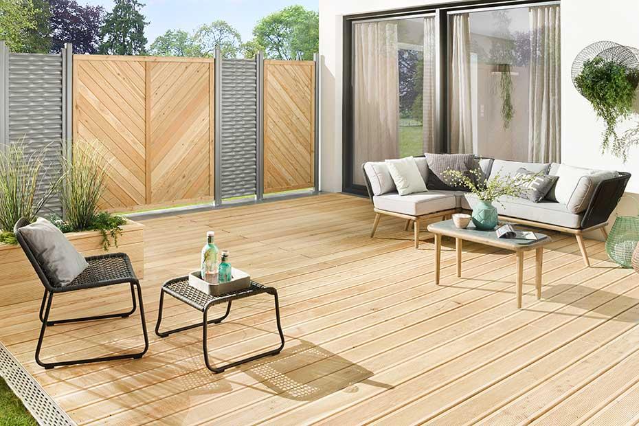 Terrassendielen Holz Hell Bangkirai HolzLand Beese Unna Dortmund