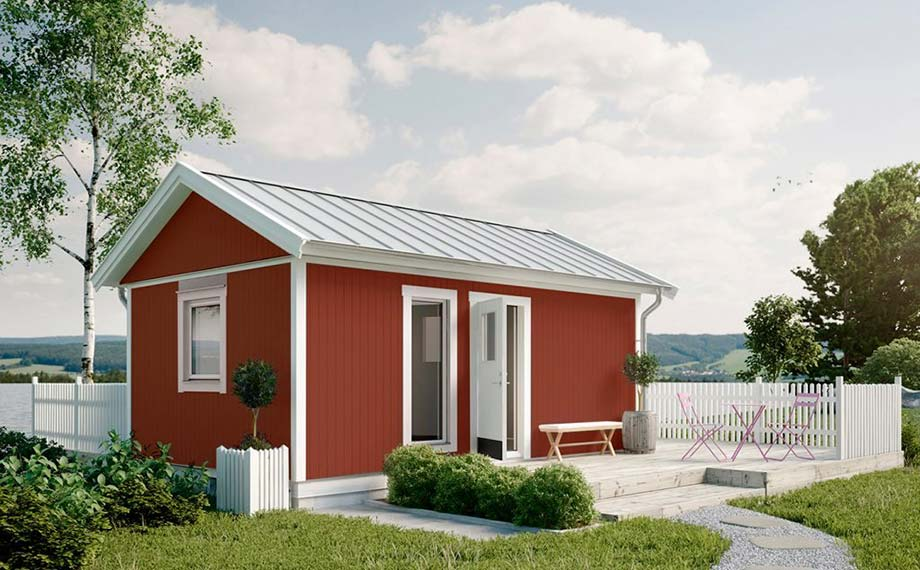 Rotes Schwedenhaus bei HolzLand Beese in Unna