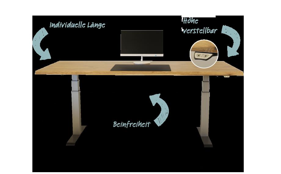 Beesondere Tische hohenverstellbarer Schreibtisch HolzLand Beese Unna Dortmund