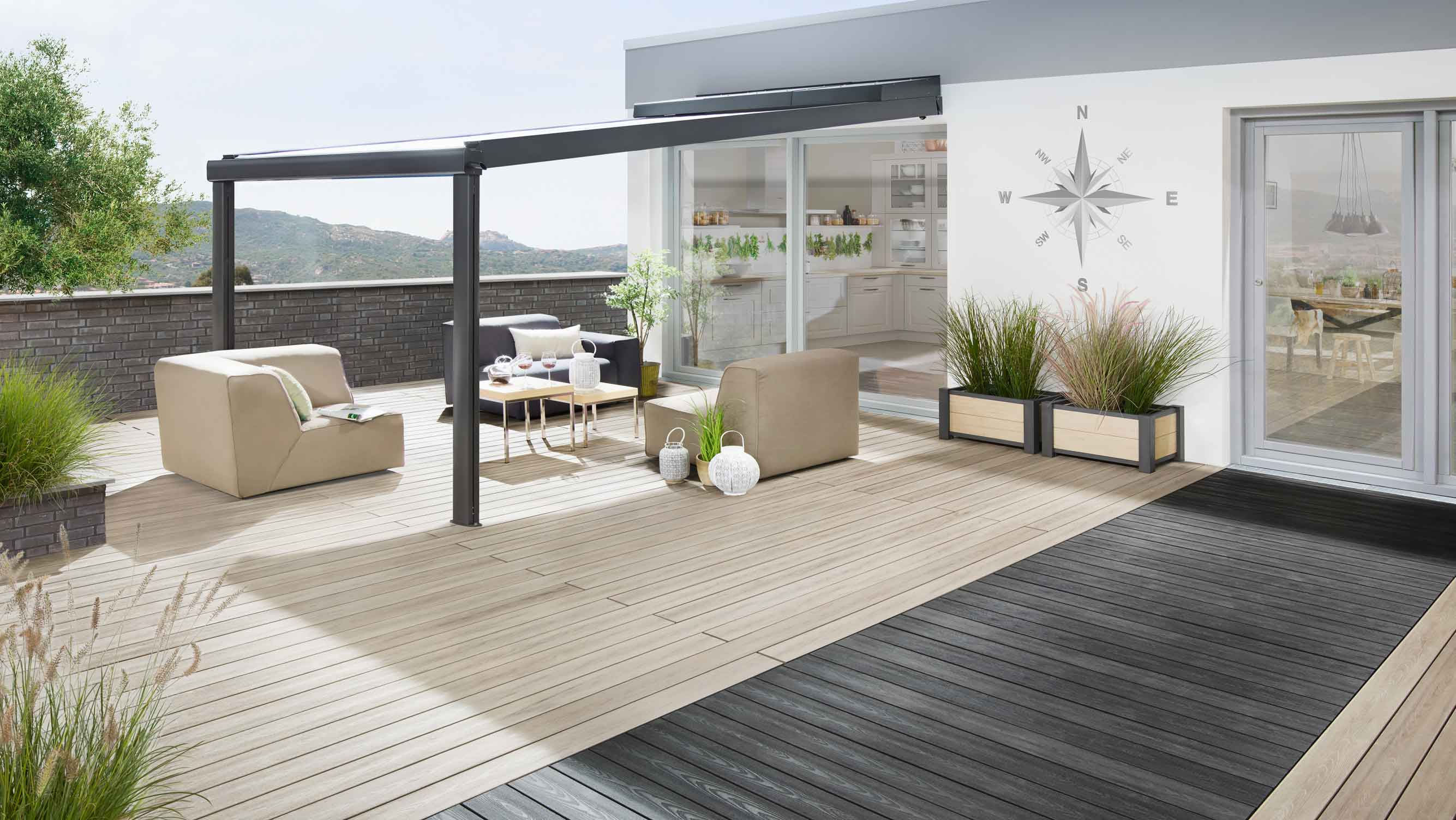 sonnenschutz dachterrasse in 3 schritten zur. Black Bedroom Furniture Sets. Home Design Ideas