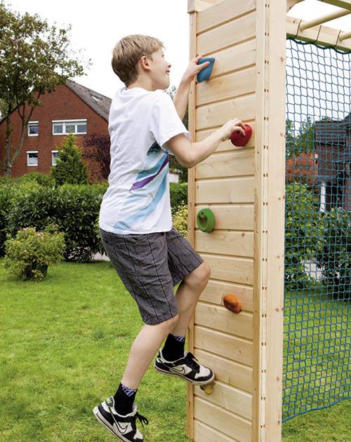 Zubehhör/Erweiterung für die Spielgeräte im Garten: Kletterwand bei HolzLand Beese in Unna (Raum Dortmund)