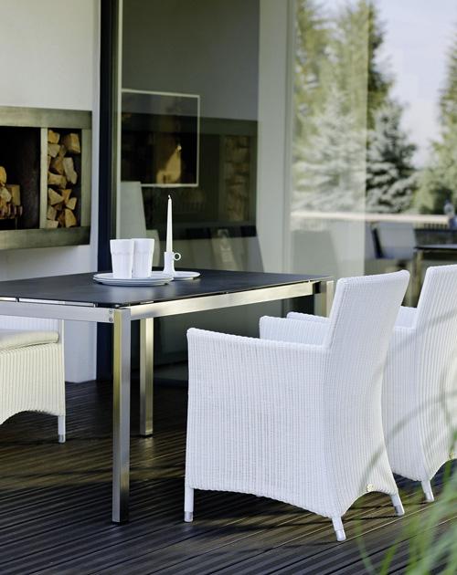 gartenmoebel geflecht gartentische keramikplatte aluminium gestell essgruppe holzland beese - Gartenmöbel für Deine Urlaubsoase