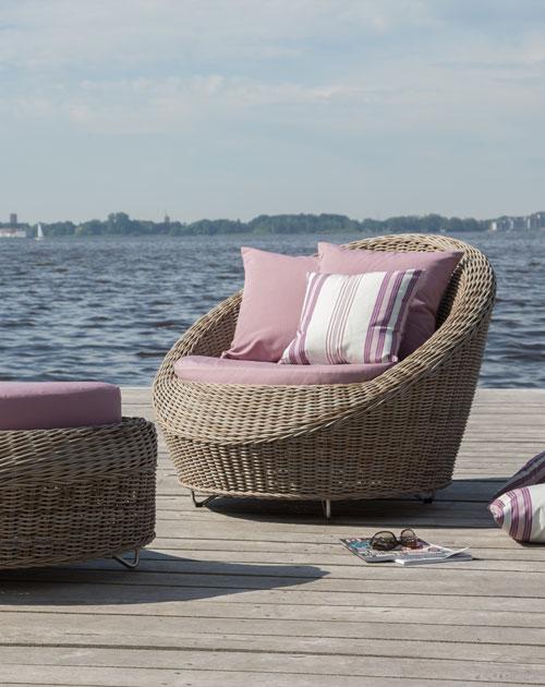 gartenmoebel geflecht loungemoebel sessel holzland beese - Gartenmöbel für Deine Urlaubsoase