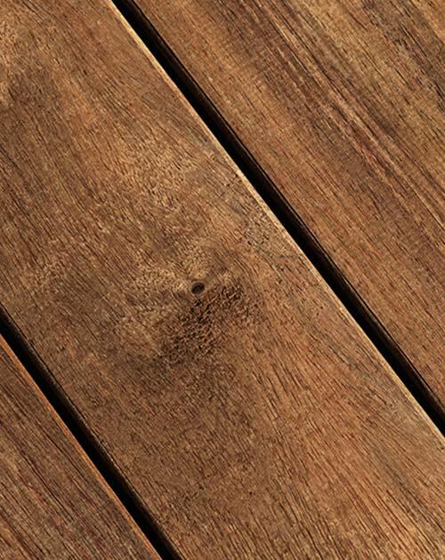 Geölte, natürlich braune Terrassendielen aus Guyana Teak, Holz, bei Holzland Beese in Unna (Region Dortmund)