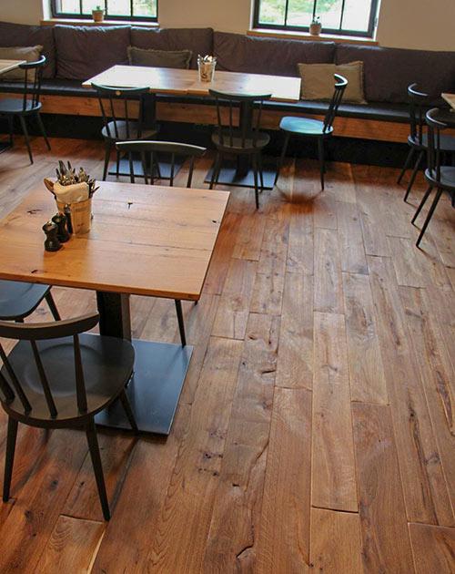 Mühlenboden Dinkel in der Gastronomie von Gutshofdiele bei HolzLand Beese in Unna