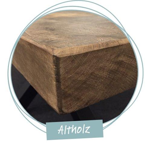 tischkante altholz holzland beese unna - Verwandlungskünstler: Ein Holztisch für jeden Raum