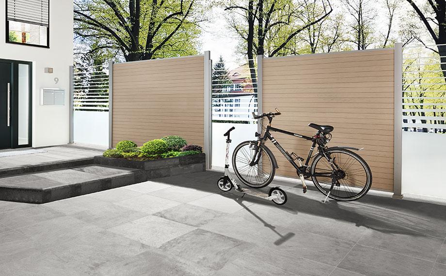 design vielfalt glas wpc sand holzland beese unna - Der Sichtschutz mit 1001 Möglichkeiten