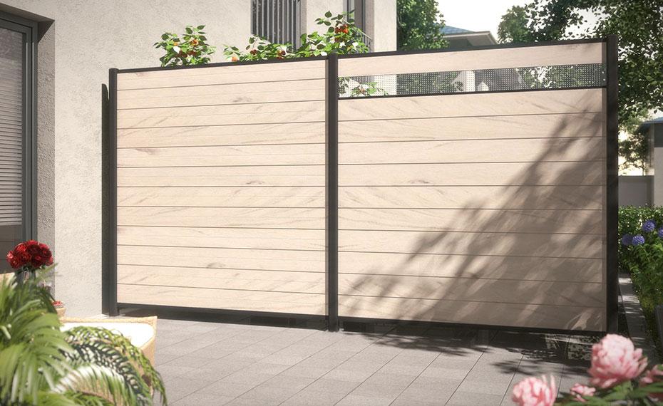 design vielfalt wpc sand holzland beese unna - Der Sichtschutz mit 1001 Möglichkeiten