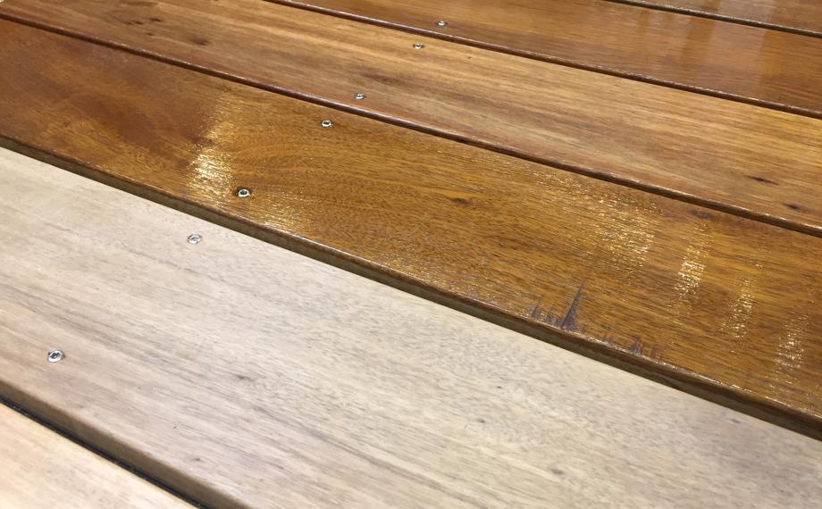 blog surinam pflege oel holzland beese unna - DIY-Tipp: Terrassendielen aus Surinamholz pflegen