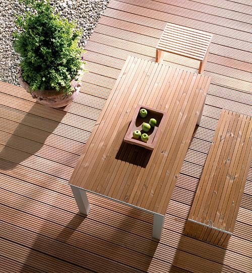 terrassendiele holz bangkirai genutet holzland beese - Holz